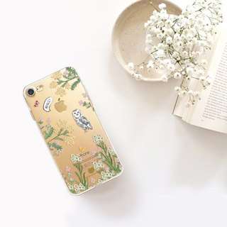 Floral clear phone case LG v30+ iphone 8plus oppo r11s samsung a8+ sony xz premi