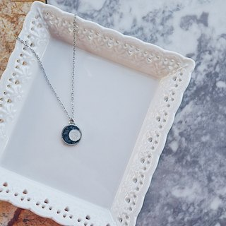 Crushed Hematite Moonstone Moon Eclipses Necklace