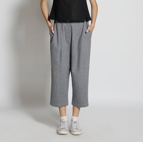 Black and white cut 17SS basic models blue pants