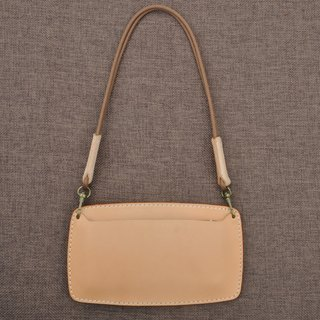 Vegetable tanned leather handmade leather mini handbag simple atmosphere