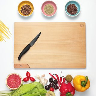 Standing magnetic cutting board (L) beech