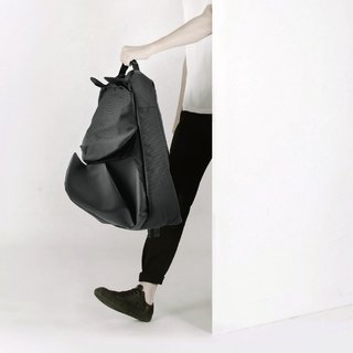 ORIBAGU Origami Bag_Black Rhinoceros Backpack (Small)