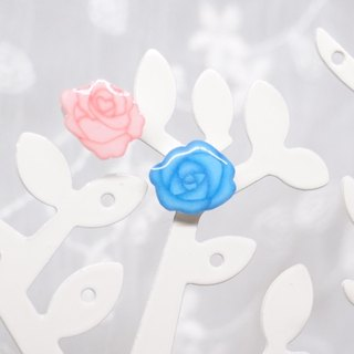 Fox Garden asymmetric rose earrings / earrings / earrings / ear clips Christmas gifts exchange gifts**If you do not specify the transparent ear clip shipping**