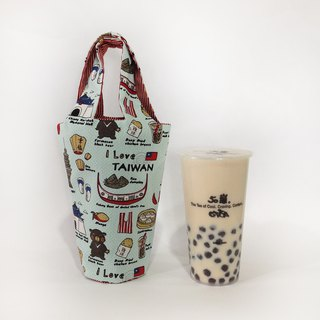 I LOVE TAIWAN & MADE IN TAIWAN 飲料袋/飲料提袋