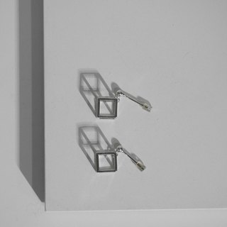 925 Sterling Sliver Cubic Cube Earrings Valentine's Day Gift