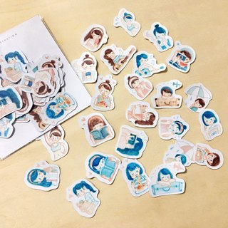 / Planner Girls / Waterproof Stickers/ 24pcs /