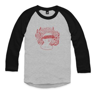 Pencil tusa - pink - gray / black - seven-point baseball T-shirt