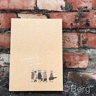 Boge stationery x traveler [leather hardcover narrow version 20 hole folder] four design
