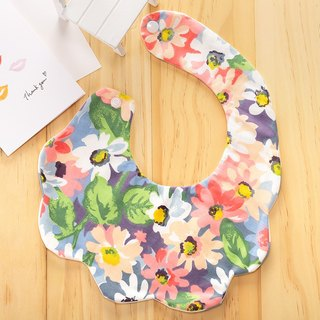 Flower clouds double-sided hand-made bibs / Miyuki gifts birthday gifts Christmas gifts