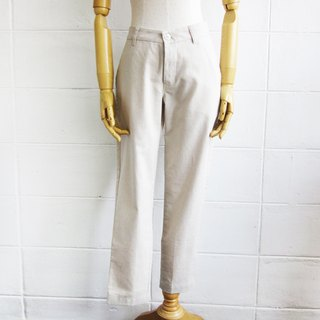 Linen-Cotton Blend Cropped Pants Natural Color