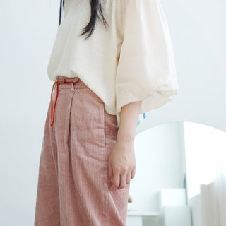 Shu Fu Lei / Sleeve / Top / Beige