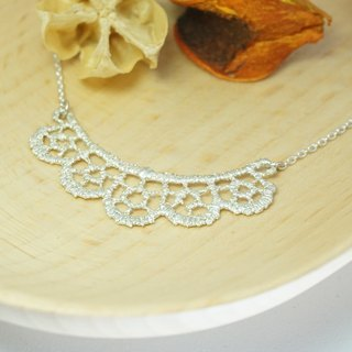 Round Dance / 925 Sterling Silver Necklace / Woven Lace