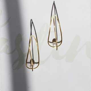 MissQueeny Delicate earrings / 925 sterling silver earrings natural pearl Huxian