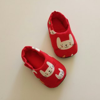 <Red> Rabbit with carrot birthday gift birthday gift baby shoes