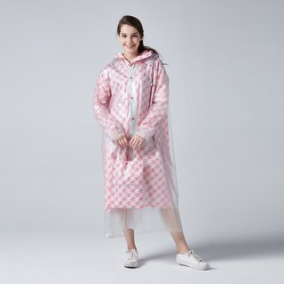 BAOGANI Double Raincoat - Houndstooth (Pink)