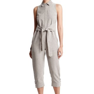 Blake Jumpsuit in Warm Grey
