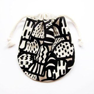 Tote bags pouch small things retro mushrooms (also choose other purse fabric patterns)