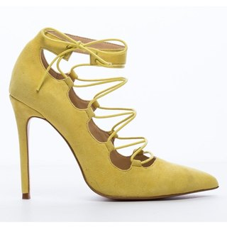 Saint Landry] [strap design sexy high heels - Lyme yellow