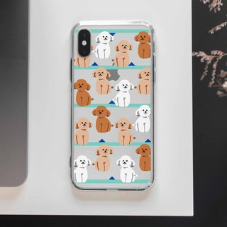 SittingPoodleClear TPU Silicone Phone case iPhone X 8 8 plus 7 7+ Samsung Note