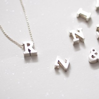 Your Name Uppercase English Single Pendant Necklace Hand Made Silver Silver925