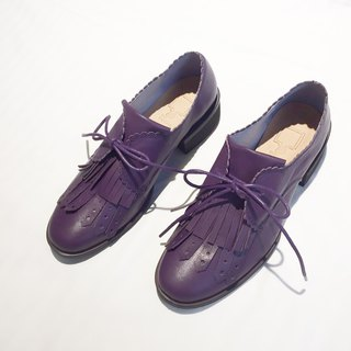 Tassel Bandage Gentleman Shoes | | Tick ticking time Thief Midnight Purple | | #8105