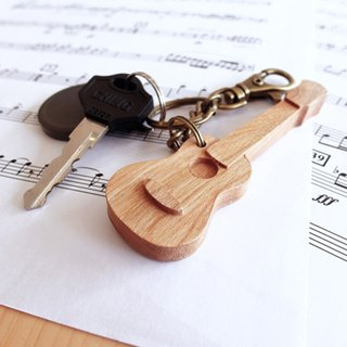 【Musical instrument series】 Ukrainian key ring Ukulele // cherry wooden key ring pendant