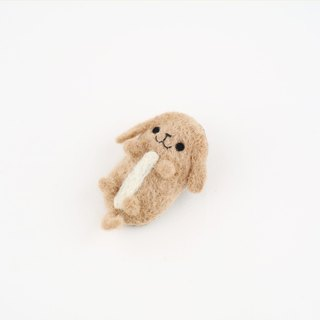 Animal's Party – dachshund dog wool felting brooch