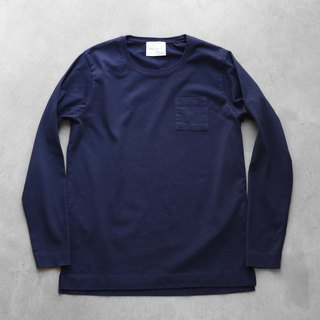 HUIS × yohaku plain cotton cut and sewn navy size 3
