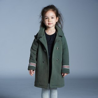 Royal Hooded Coat (Ink Green/Blue)