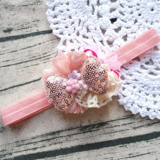 Baby Headband - handmade BB Elastic Soft Hairband