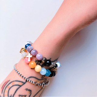 Whispering colored gem ore bracelet