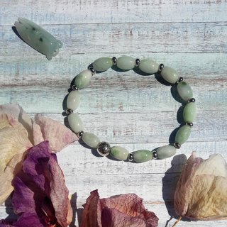 This edge Mastery - Natural Burma jade silver bead bracelet design