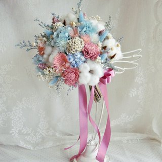 Masako Romantic Sweetheart Bridal Bouquet Dry Bouquet Everlasting Flower Wedding
