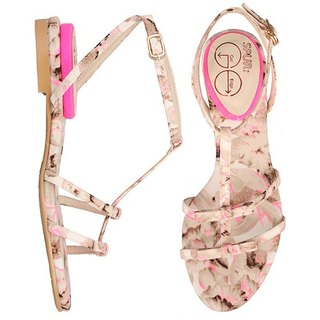 SPUR Neoned strap sandals 27089 PINK