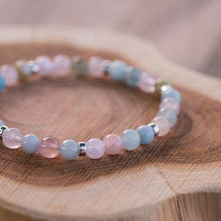 [Woody'sHandmade] wake up. Morgan Stone 6mm single-layer bracelets.