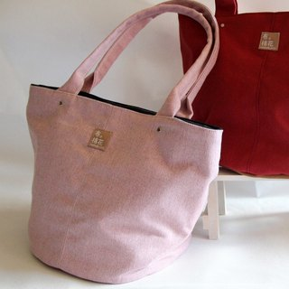 Cotton Fabric: Canvas Shoulder bag,  large capacity bag,  Canvas tote bag, pink