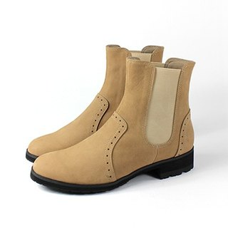 Brown │ elastic boots personality