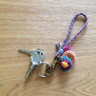 Folk customs key ring round flower two