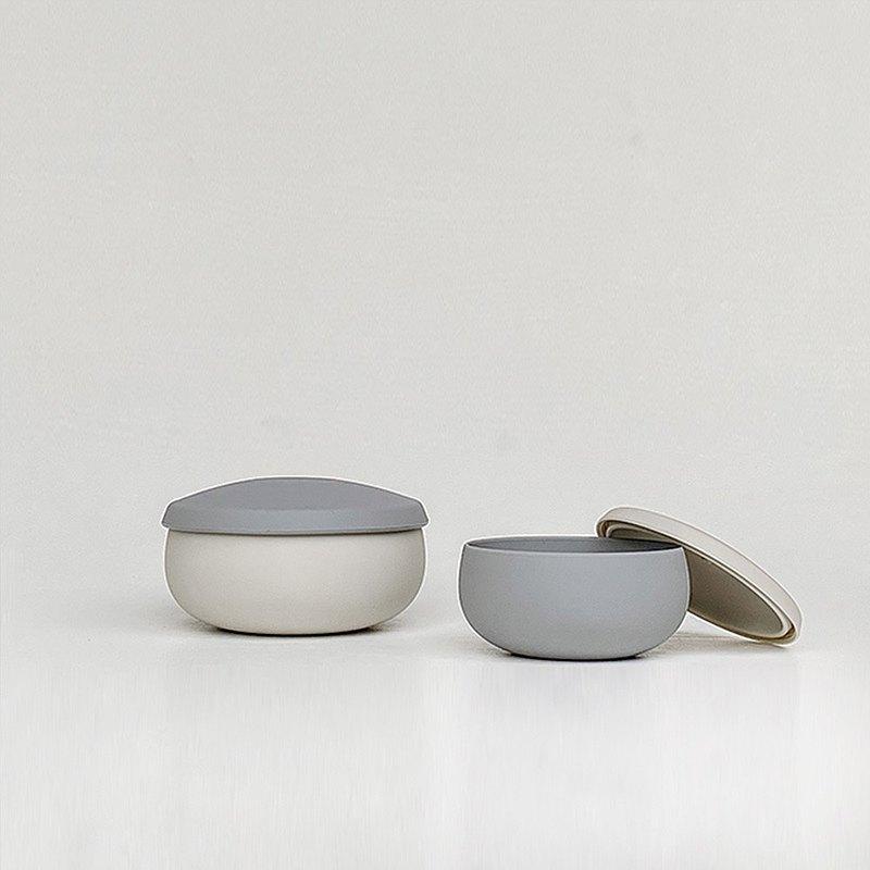 【人氣熱賣】Besovida  雙雙全矽膠環保碗 / 雲霧灰