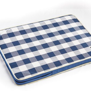 Lifeapp Sleeping Pad Replacement Cloth --- M_W80 x D55 x H5 cm (Blue and White) without sleeping pad