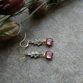 Rose Pink Post Earrings