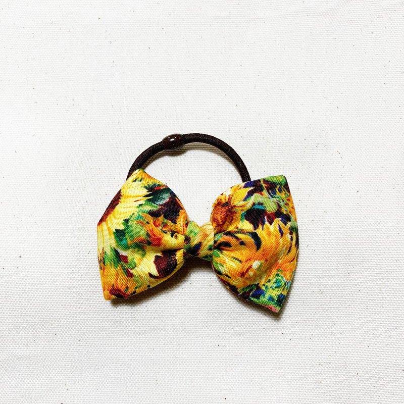 太陽花 蝴蝶結髮飾 髮圈