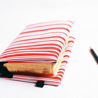 Red and white. Stripes---custom Bible set / book cover