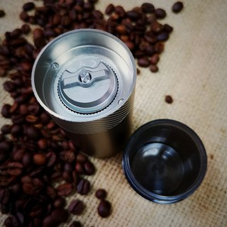 1Zpresso hand grinder mini series - titanium plated stainless steel cutter / aluminum alloy powder bottle