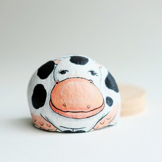 Cow stone painting