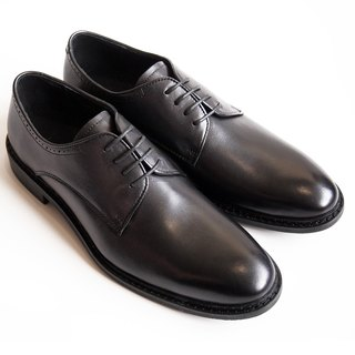 Hand-painted calf leather leather with plain Derby shoes leather shoes men's shoes - black - free shipping-D1A71-99