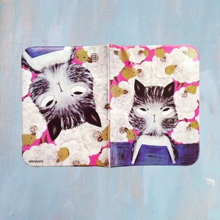 EmmaAparty illustration passport folder: insomnia cat