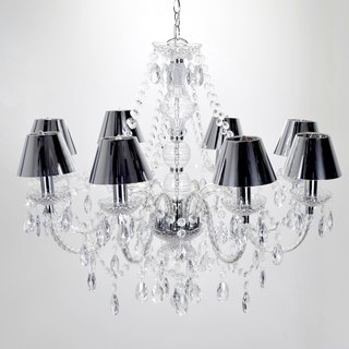 BNL00100-Modern and elegant 8 light mirror PVC cover chandelier