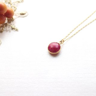 Rose Fairy tales-Ruby necklace