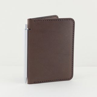 Multi-function passport holder / Notepad (with blank notepad) - Deep coffee
